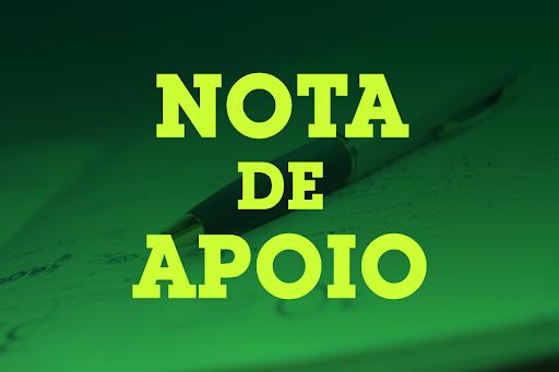 Notícia: NOTA DE APOIO