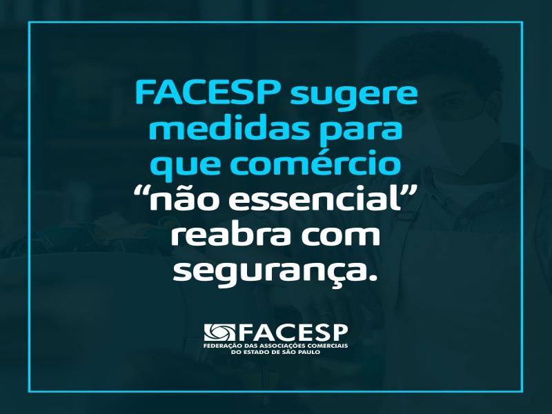 Notícia: Facesp sugere medidas para que comércio não essencial reabra com segurança